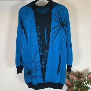 Sweaters - Vintage⚡️Thunderstorm Lightning Bolt Sweater